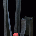 LA CITTA' - 1999 - acciaio, carta, resina - 210x150x150