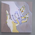 MANI (particolare) - 2013 - acrilico su tavola - 70x70 [x3]