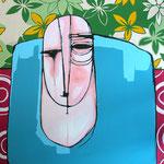 TRE TIZI - 2008 - acrilico su tavola - 50x40