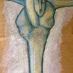 CRISTO DI PARMA (particolare) - pastello a olio su carta - 200x48