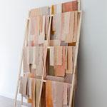 Barbara Müller · skinn (V) 260 x 175 x 45 cm, Leinwand, Farbe, Holz, 2017