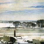 Widok z okna konserwatorium. Saska Kepa zima-Bilinska-Bohdanowicz, Anna 1857-1893