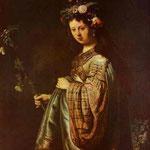 Rembrandt - Saskia as Flora