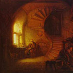 Rembrandt - Philosopher Meditating