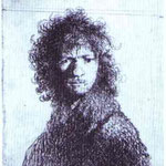 Rembrandt - Self-Portrait with Knitted Brows