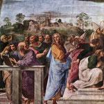 Raffaello - Stanze Vaticane - La Disputa (detail) [04]