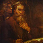 Rembrandt - St. Mathew and Angel