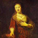 Rembrandt - Saskia at Her Toilet