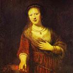 Rembrandt - Saskia at Her Toilet