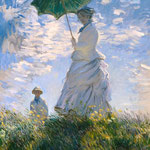 The Walk. Lady with a Parasol.