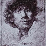 Rembrandt - Self-Portrait with Wide-Open Eyes