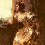 Dama przy oknie-Czachórski, Wladyslaw  1850-1911