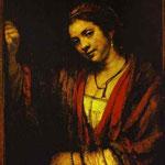 Rembrandt - Portrait of Hendrickje at Window