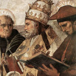 Raffaello - Stanze Vaticane - La Disputa (detail) [09]