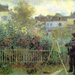Renoir Painting In His Garden.