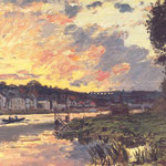 The Seine at Bougival in the Evening.