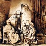 1648 Detail Peintre Dans Son Atelier,louvre