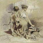 Kobieta z amorkiem-Siemiradzki, Henryk  1834-1902