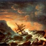 Rozbitkowie u brzegów morza-Lampi, Franciszek Ksawery 1782-1852