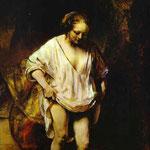 Rembrandt - Hendrickje Bathing in a River