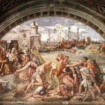 Raffaello - Stanze Vaticane - The Battle of Ostia