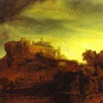 Rembrandt - Landscape with a Castle