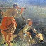 Topielec w usciskach dziwozony (Rusalki)-Malczewski, Jacek 1854-1929