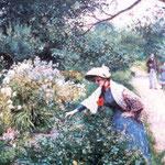 W ogrodzie przy klombie-Podkowinski, Wladyslaw 1866-1895