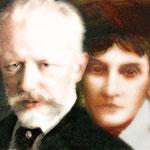 PETER ILICH TCHAIKOVSKY 1840-1893 Y NADEZHDA FILARETOVNA VON MECK 1831-1894 (MECENAS DE TCHAIKOVSKY).