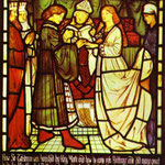 Wedding of Sir Tristram. Window. 1862-63. Corporation Art Gallery, Cartwright Memorial Hall, Bradford, UK