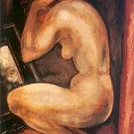 Kobieta przed lustrem-Gwozdecki, Gustaw 1880-1935