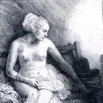 1658 Femme Nue Avec Un Chapeau,louvre