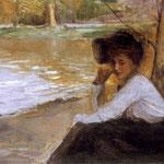 Dama w parku-Axentowicz, Teodor 1859-1938