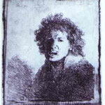 Rembrandt - Self-Portrait Open-Mouthed