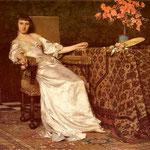 Dama z róza (Chcesz róze)-Czachórski, Wladyslaw  1850-1911