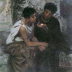 Noc w Pompei (Swietojanski robaczek). Fragment-Siemiradzki, Henryk  1834-1902