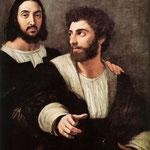 Raffaello - Double Portrait - Louvre