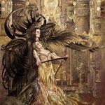 """Representación gráfica de la escultura """"La muerte y la doncella"""" de Elna Borch"""