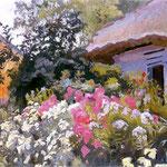 Kwiaty przed chata -Kamocki, Stanislaw 1875-1944