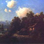 Krajobraz z chata i zaprzegiem-Gierymski, Maksymilian 1846-1874