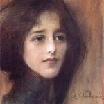 Portret kobiety -Axentowicz, Teodor 1859-1938