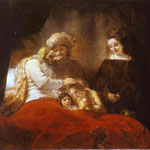 Rembrandt - Jacob Blessing the Sons of Joseph
