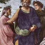 Raffaello - Stanze Vaticane - The Parnassus (detail) [06]