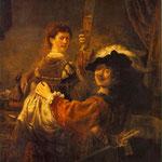 Rembrandt and Saskia-1635