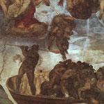 El Juicio Final (1536-1541) detalle.