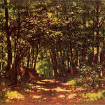 Wnetrze lasu -Malecki, Wladyslaw 1836-1900