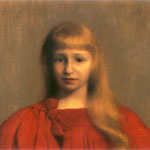 Dziewczynka w czerwonej sukni-Pankiewicz, Józef  1866-1940