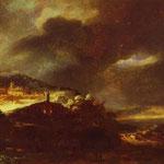 Rembrandt - Paysage D'Orage