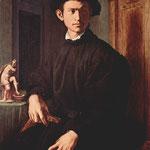 Porträt eines jungen Mannes mit Laute