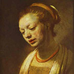 Rembrandt - Portrait of a Young Girl